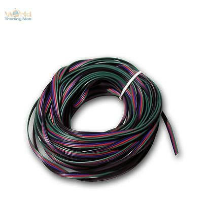 20M Braid 4-adrig 0,14 mm ² Copper Red Green Blue - Ideal kukabel for RGB LED