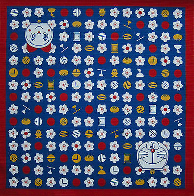 Doraemon the Robot Cat Furoshiki Wrapping Cloth Japanese Fabric Cotton 50cm
