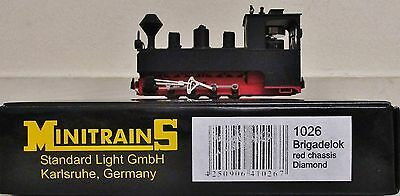 Minitrains 1026 - German Brigadelok Loco Black/Red. (009/HOe Narrow Gauge)