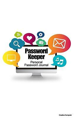 Password Keeper: Personal Password Journal - Creative Computer by Recordkeeper P