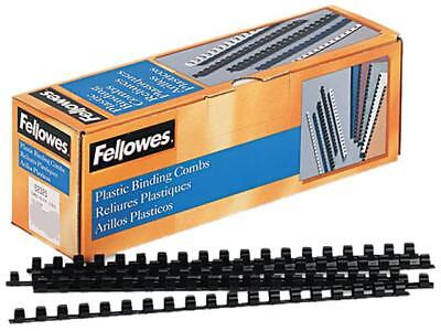 "52325 Fellowes Plastic Comb Bindings, 3/8"" Diameter, 55 Sheet Capacity, Black, 1"