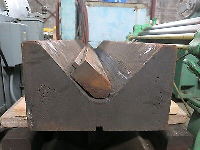 "Large 12"" V Press Brake Die 85 Degree 73"" with punch"