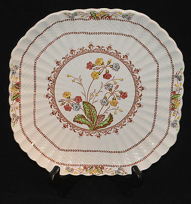 Spode Copeland China Square Luncheon Plate Cowslip Pattern