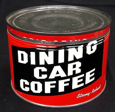 Vintage Dining Car Drip Grind Coffee Key Wind Tin 1 lb Can St. Louis, MO