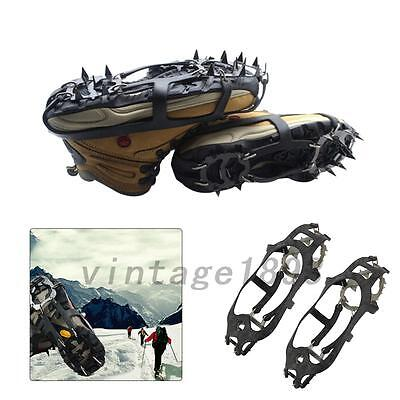 18 Teeth Anti-slip Ice Snow Climbing Shoe Covers Spike Cleats Crampons 1Pair