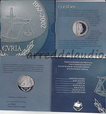 Lussemburgo Luxembourg 25 Euro 2002 Cour De Justice Argento Silver Fdc Proof