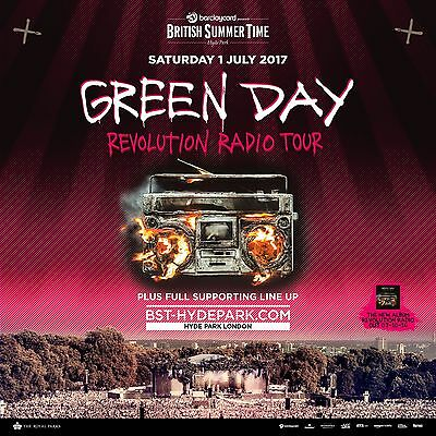 "GREEN DAY ""REVOLUTION RADIO TOUR"" 2017 LONDON CONCERT POSTER-Punk/Alt Rock Music"
