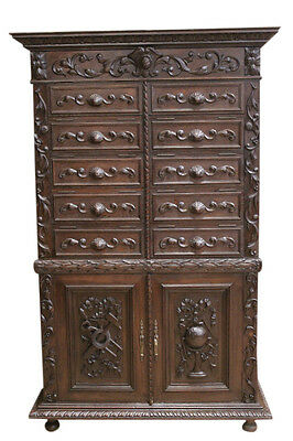 French Hunt Office Cabinet , Engineer/ Geologist Cabinet, or Great Wine Cabinet