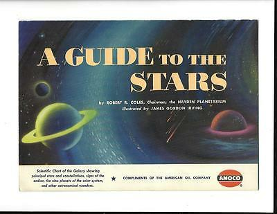 Vintage AMOCO Permalube Oil Advertising Giveaway-  A Guide To The Stars, 1951