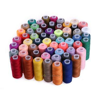 60 Colours 250 Yard Set Polyester Embroidery Sewing Machine Threads All Purpose