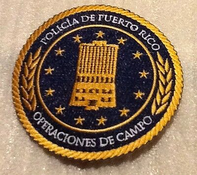 New Version Puerto Rico State Police Field Operations Headquarters Patch