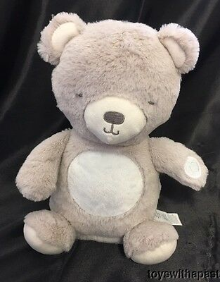 Carters GLOW BELLY BEAR Musical Light-Up Plush Baby Soother Nightlight Stuffed