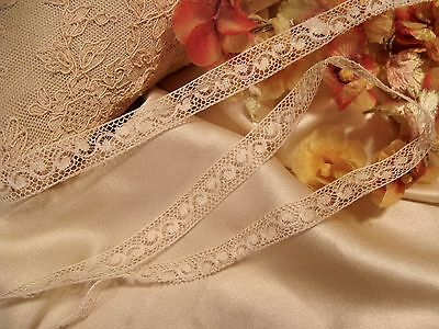 """Antique French Val Cotton Insertion Lace Doll Craft 104"""""""