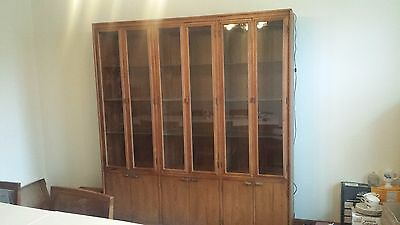 Mid Century Late 1960's Bernhardt Furniture Dining China Display Cabinet