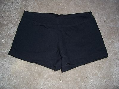 Girls CAPEZIO Black Dance Shorts Size Medium