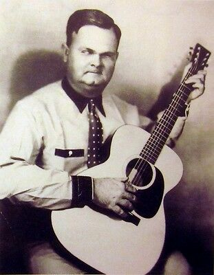 RILEY PUCKETT clipping B&W photo blind guitar 1930s country Skillet Lickers