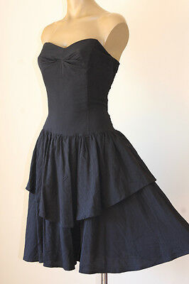 Chic! VINTAGE 80's STRAPLESS BONED COCKTAIL PARTY DRESS 12