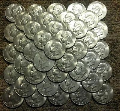EISENHOWER IKE DOLLARS LOT TEN COINS $10 FACE Mixed Dates & Bicentennial!