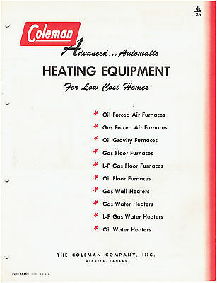 Coleman Heating Equipment Catalog