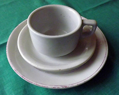 GERMAN WEHRMACHT WWII TEA OR COFFEE CUP/ MUG & PLATE ORIGINAL! (d)