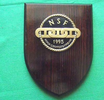 OLD Merchant Navy Norway Ship Owners  MASTER MARINERS Ship Crest Shield Plaque