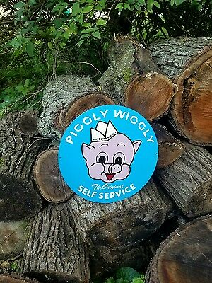 Big Piggly Wiggly Sign Grocery Store Seed Feed Food Self Service