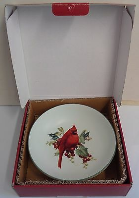 Lenox Winter Greetings Everyday Small Serving Bowl Cardinal Bird