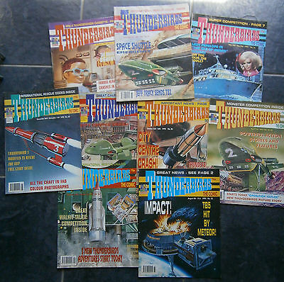 Thunderbirds The Comic - Job Lot x 9 Comics 1992/1993 Gerry Anderson