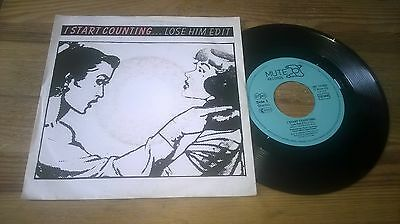 "7"" Pop I Start Counting - Lose Him / See How It Cuts (2 Song) MUTE / INTERCORD"
