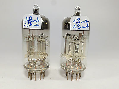 one pair 12AX7A ECC83 MAZDA silver plate & finger spring mica perfect matched