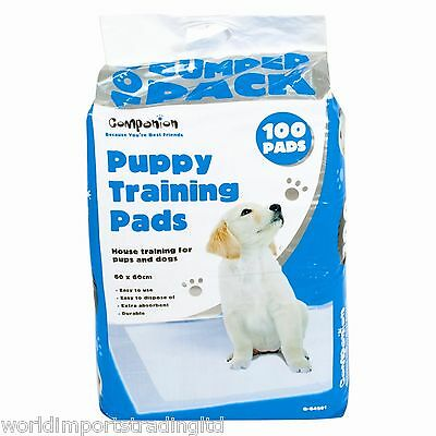 100 Large Puppy Training Pads Dogs Toilet Absorbent Mat 60 x 60cm
