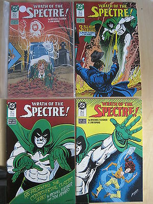 WRATH of the SPECTRE : COMPLETE 4 ISSUE SERIES by FLEISHER & APARO.1,2,3.DC.1988