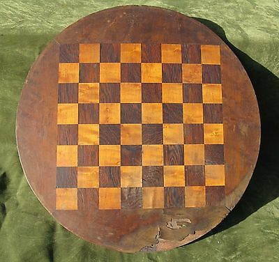 Antique Rosewood Birdseye Maple Chess Checker Game Board