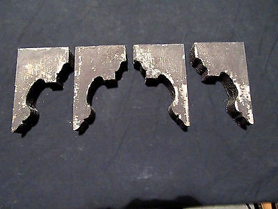 ~ Nice Lot Of 4 Small Matching Corbels ~ 8 Inches Tall ~ Architectural Salvage