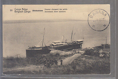 CPA  CONGO BELGE  Shinkakasa  Steamer chargeant des galets N° 2