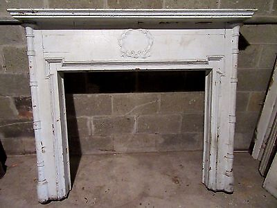"~ Ornate Antique Oak Fireplace Mantel~ 41"" Opening ~ Architectural Salvage"