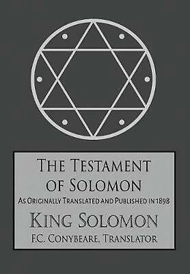 The Testament of Solomon by King Solomon (English) Hardcover Book