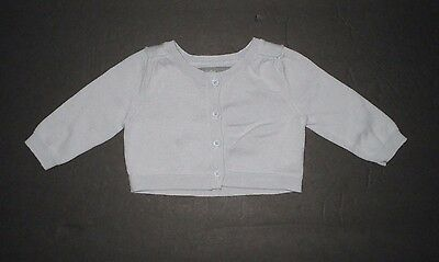 Infant Girls Baby Gap Gray Button Down Cardigan Sweater Size 0-3 Months