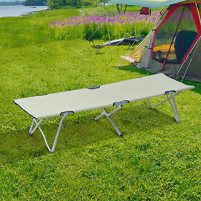 Outsunny Camping Folding Cot Outdoor Patio Sleeping Bed Travel Super Light Guest