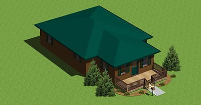 DESIGN Your Own Cabin With Construction Plans 29900 PicClick