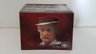 Star Trek TNG The Next Generation Season 6 trading card base set 108 cards + box
