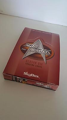Star Trek TNG The Next Generation Season 6 trading card EMPTY box