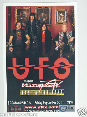 Ufo 2011 San Diego Concert Tour Poster - U.k. Heavy Metal Music, Scorpions, Msg