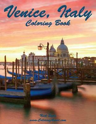 Venice, Italy Coloring Book by Nick Snels (English) Paperback Book Free Shipping