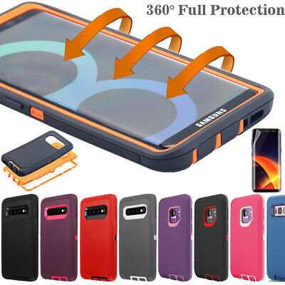 Samsung Galaxy S9 S8 Note 8 Hard Case Shockproof Hybrid Tough Armor Rugged Cover