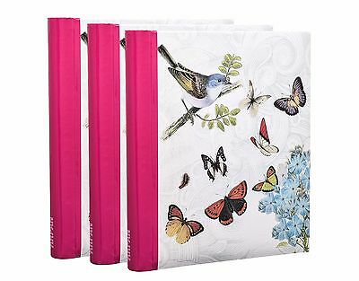 3 X Self Adhesive Photo Albums Totaling 60/sheets 120/sides Album - Butterfly