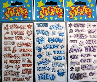 Bulk Lot x 6 Word Symbol Sticker Sheets 148 Stickers New Party Favors Free Post