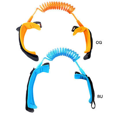 Hot Kids Travel Anti-Lost Spring Wristband Belt Safety Harness Wire 2Color/Pack