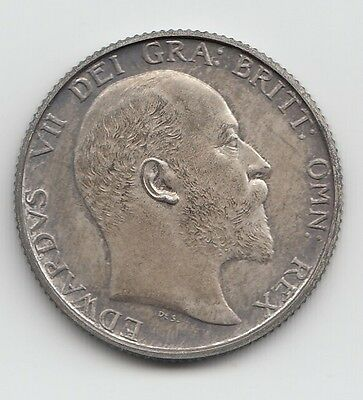 Very Rare Edward VII 1902 Matt Proof Silver Shilling 1/-