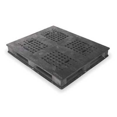BUCKHORN PU4840063310006 Pallet, Rackable, 48x40In, Black
